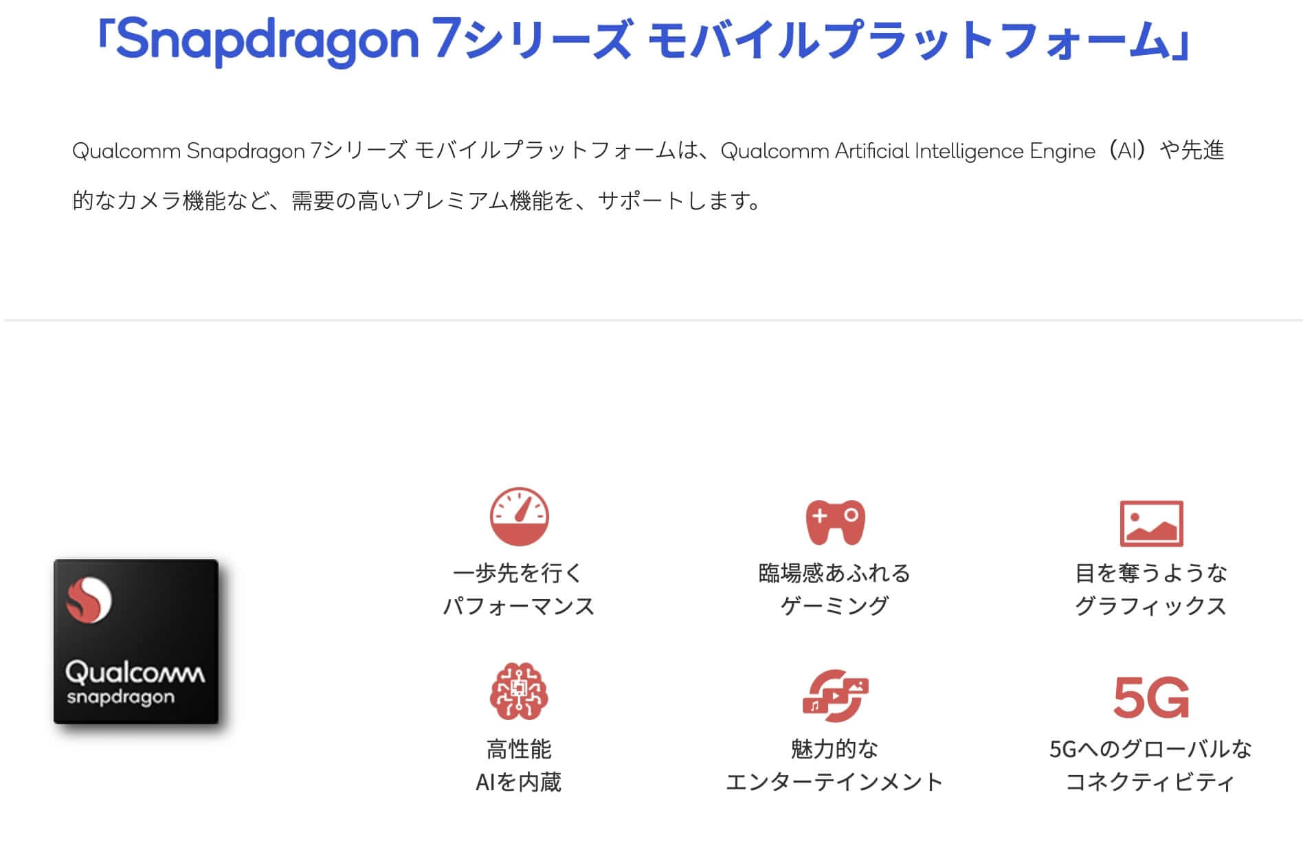 Snapdragon 7シリーズ